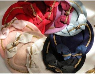 リボンベレー帽 9色 SweetDreamer 帽子 秋冬 パステルカラー ジェラートカラー マカロンカラー かわいい ふんわり あったか おしゃれ 上品 きれいめ フリーサイズ 甘ロリ ゴスロリ