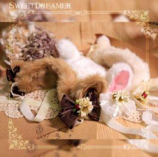 エコファーカチューシャ 3色 耳付き SweetDreamer パール ビジュー 甘ロリ ふわふわ もこもこ 猫 猫耳 ネコ かわいい ふんわり キュート フリーサイズ ヘッドドレス
