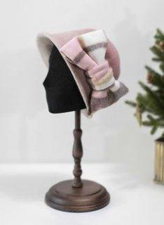 帽子4色 SweetDreamer リボン 秋冬 あったか 上品 チェック かわいい おしゃれ エレガント クラシカル 甘ロリ 姫ロリ 秋物 冬物 ヘッドドレス 雑貨 小物 ワンサイズ ゴスロリ ロリ