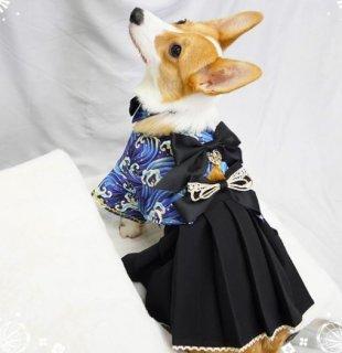犬コスチューム3色 袴 スカート 和服 和ロリ 小型犬 着物 かわいい リボン ロリータ Lolita ワンちゃん イヌ ペット用 和風 無地 大きいサイズ サイズ豊富 おでかけ イベント パーティ