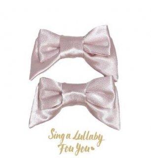 リボンクリップ 2個セット ピンク ヘッドドレス ヘアアクセサリー かわいい クラシカル クラロリ 姫ロリ エレガント 雑貨 小物 ゴスロリ ロリータファッション