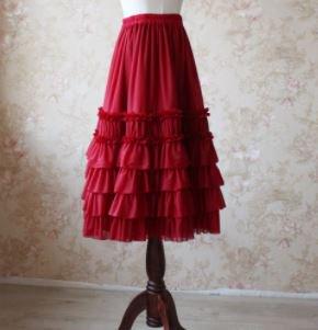 フリル ペチコート 2色 インナースカート フレアスカート フリル チュール かわいい 甘ロリ クラロリ クラシカル ウエストゴム らくちん ボリュームアップ 撮影 デート イベント ボトムス