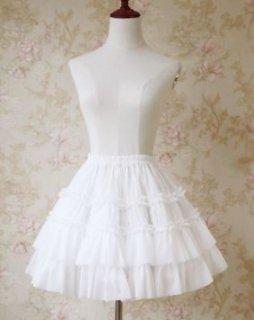 シフォン ミニパニエ 5色 インナースカート フリル フレア かわいい ミニ丈 美脚 ボリュームアップ 甘ロリ メイド風 メイド ドレスアップ 撮影 イベント おでかけ デート ゴスロリ