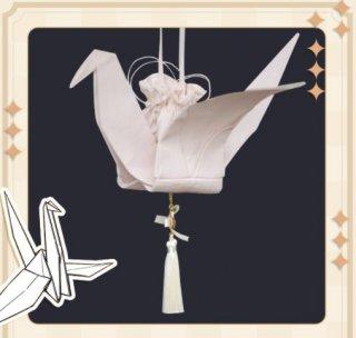 巾着 3色 Nya Nya 通年 春夏 和ロリ 和風 かわいい 鶴 ファッション雑貨 小物 バッグ かばん ポーチ 撮影 イベント 巾着バッグ おでかけ お呼ばれ 上品 プレゼント ゴスロリ