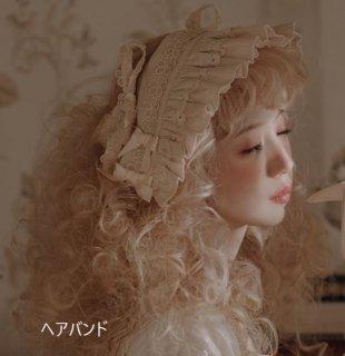 プリーツ ヘッドドレス 4色 Nya Nya ヘッドドレス フリル 和ロリ エレガント 姫ロリ かわいい フェミニン ヘアアクセサリー 雑貨 小物 リボン フリーサイズ 撮影 イベント おでかけ