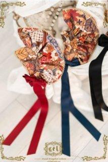 ボンネット 3色 和ロリ ヘッドドレス 帽子 通年 春夏 春秋 プリント 和ロリ 和柄 ヘアアクセサリー おしゃれ かわいい レトロ 雑貨 小物 華やか 和柄 ゴスロリ ロリータファッション