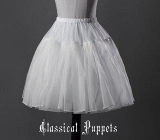 シフォン パニエ 3色 通年 インナースカート ふんわり ショート ミニ ひざ上丈 ボリュームアップ おしゃれ ウエストゴム かわいい 甘ロリ クラロリ ゴシック クラシカル カジュアル 万能