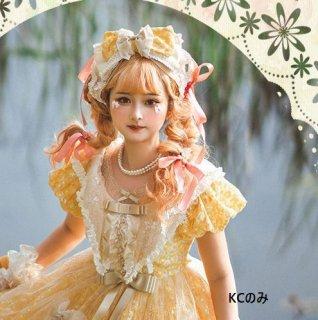 リボンカチューシャ 2色 ヘッドドレス カチューシャ KC 雑貨 小物 ヘアアクセサリー フリル ボリューム フリーサイズ クラシカル クラロリ 姫ロリ かわいい ゴスロリ ロリータファッション
