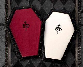 クラッチバッグ 2色 ゴシック PUレザー かわいい 雑貨 かばん バッグ バイカラー 十字架 クロス フェイクレザー フリーサイズ 撮影 イベント パーティ おしゃれ ゴスロリ 棺