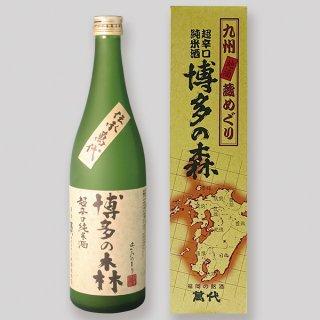 【清酒15度】 萬代 超辛口純米酒 博多の森 720ml 箱入 【九州 福岡 日本酒】