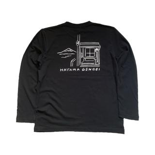 真名瀬(しんなせ) 長袖Tシャツ 黒色(ブラック)