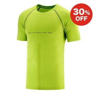 トレーニング Tシャツ ショートスリーブ BORN TO SWIM BIKE RUN 2020