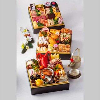【謹製おせち】和洋中料理三段重《ホテル受取り/熊本市内配送希望》