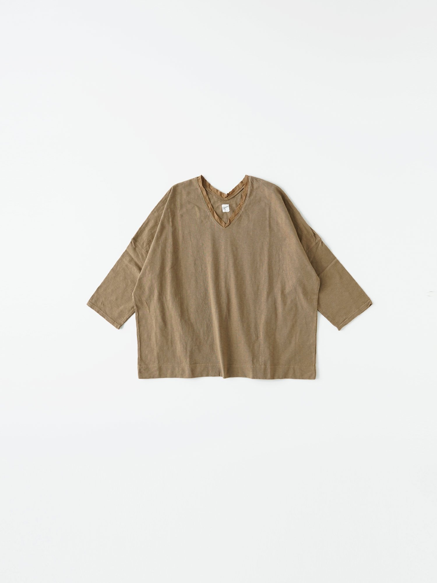 マナプール天竺 ポンチョ七分袖Tシャツ