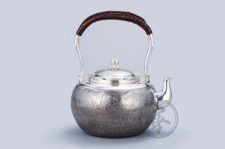 纯银  汤沸6寸  茣蓙目