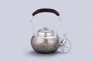 纯银  汤沸5寸  茣蓙目