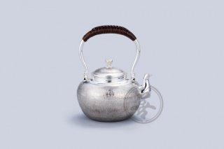 纯银  汤沸4.5寸  茣蓙目