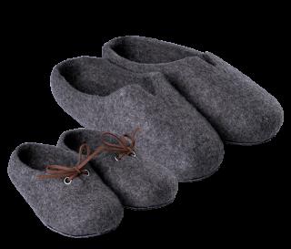 ターブチック 親子セット 羊毛スリッパ 室内用 100%ウールフェルト ※若干羊の匂い有