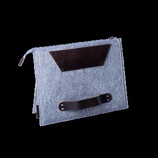 ウールフェルトケース(取手付き) ハンドメイド A4サイズ