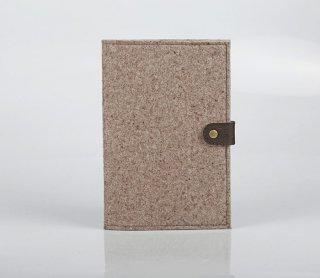 手帳カバー ウールフェルト ハンドメイドB5サイズ