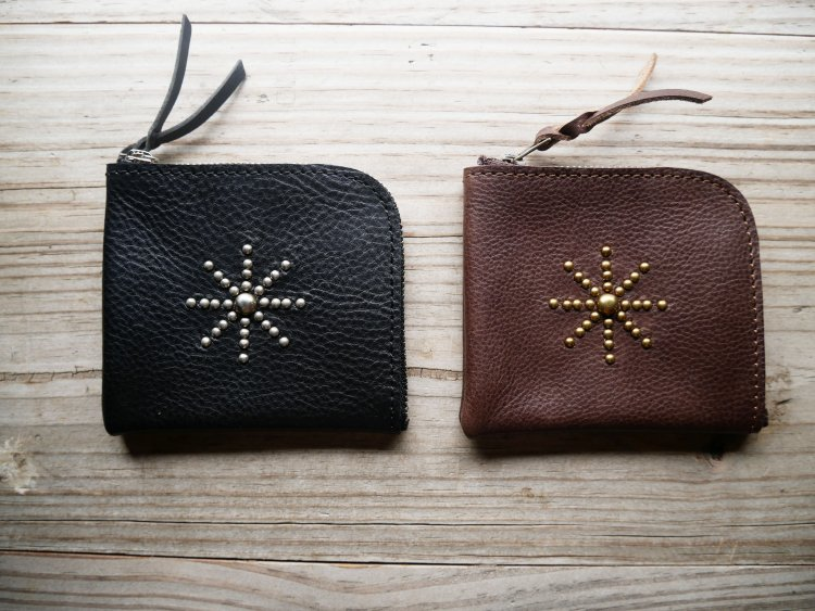[zip purse studs] VACCHETTA800