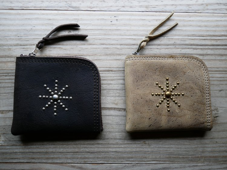 [zip purse studs]  kudu