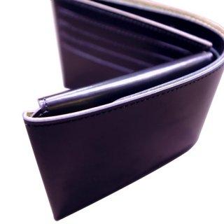 二つ折り財布 KAWAORIGAMI ブラック&ゴールドモデル チェンジウォレット