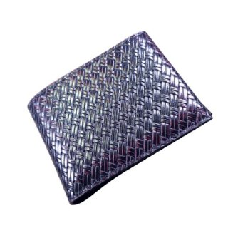 二つ折り財布 アジロ編みグレインKAWAORIGAMIウォレット