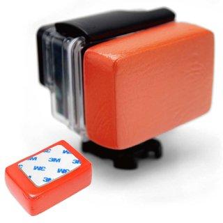 GoPro(ゴープロ)用アクセサリー フロートバック 赤 防水ハウジング用 浮き 3M両面テープ付き GLD4974GP46