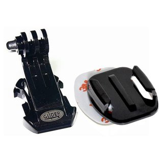 GoPro(ゴープロ)用アクセサリー Jフック付フラットベースマウント 平面 ベースマウント 3M両面テープ GLD5438GP57