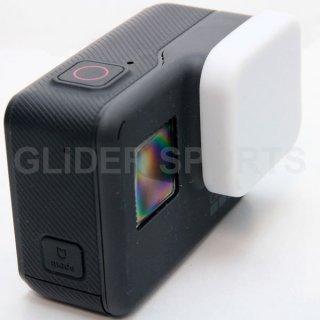 GoPro(ゴープロ)用 (HERO7Black/HERO6/HERO5対応) シリコン レンズカバー 白 レンズキャップ レンズ保護 フタ GLD7869GO210