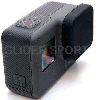GoPro(ゴープロ)用 (HERO7Black/HERO6/HERO5対応) シリコン レンズカバー 黒  レンズキャップ レンズ保護 フタ GLD7876GO210