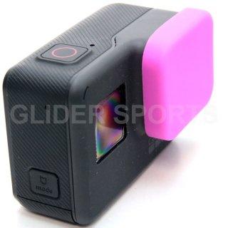 GoPro(ゴープロ)用 (HERO7Black/HERO6/HERO5対応) シリコン レンズカバー ピンク レンズキャップ レンズ保護 フタ GLD7883GO210