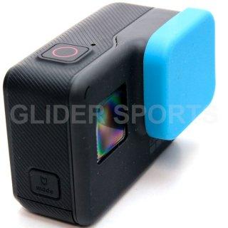 GoPro(ゴープロ)用 (HERO7Black/HERO6/HERO5対応) シリコン レンズカバー 青 レンズキャップ レンズ保護 フタ GLD7906GO210