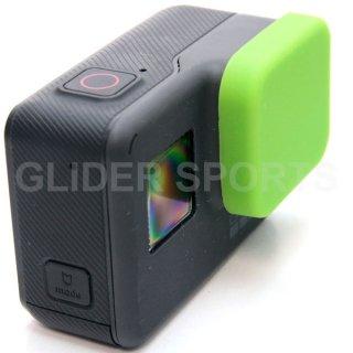 GoPro(ゴープロ)用 (HERO7Black/HERO6/HERO5対応) シリコン レンズカバー 緑 レンズキャップ レンズ保護 フタ GLD7920GO210
