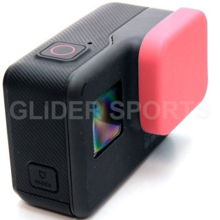 GoPro(ゴープロ)用 (HERO7Black/HERO6/HERO5対応) シリコン レンズカバー 赤 レンズキャップ レンズ保護 フタ GLD7951GO210
