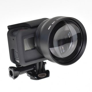 GoPro(ゴープロ)用 (HERO7Black/HERO6対応) 2倍ズームレンズ ×2コンバーター  望遠レンズ 52mm GLD9795MJ27-52