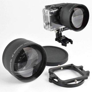 2倍ズームレンズ ×2コンバーター 望遠レンズ 58mm 当社HERO7/6用防水ハウジング全対応 (HERO7Black/HERO6対応) GLD9801MJ28-58