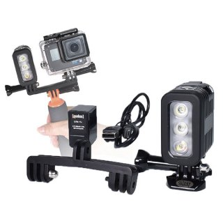 GoPro(ゴープロ)用 3気圧防水ライト ダイビングライト LEDライト 300LM 水中ライト 防水検査済 照明撮影 GLD9931MJ41