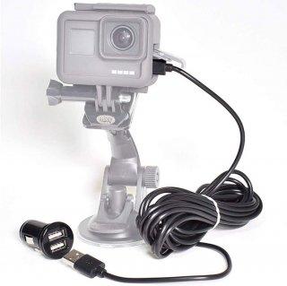 HERO10/9/HERO8/7/6/5対応 充電ケーブル5m(USB-C) シガーソケット付 給電ケーブル  GLD3129MJ51