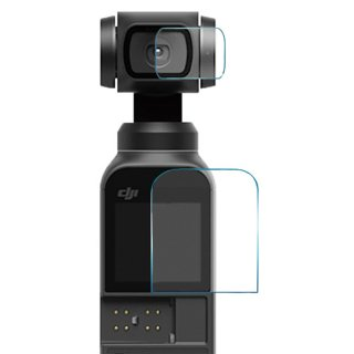 DJI Osmo Pocket・Pocket 2用 超硬度保護フィルム メイン&レンズ フィルム ガラスフィルム オスモポケット ポケット2対応 GLD3303MJ56
