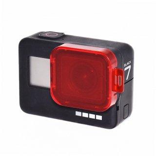 HERO7black/HERO6/HERO5対応 レンズフィルター 赤 ダイビングフィルター 海中 水中 レンズカバー GLD3563MJ80