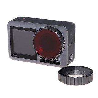 DJI Osmo Action用 レンズフィルター 赤 (オスモアクション/オズモアクション対応) ダイビングフィルター 海中撮影 海 GLD3803MJ96