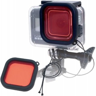 当社製防水ハウジング (HERO8Black用) 専用 ダイビングフィルター 赤 フィルター レンズフィルター 海中 水中 GLD3938MJ10