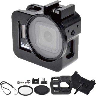 GoPro(ゴープロ)用 HERO8Black対応 アクセサリー アルミ製 フレーム セット (UVカットレンズ付き) GLD4089MJ19