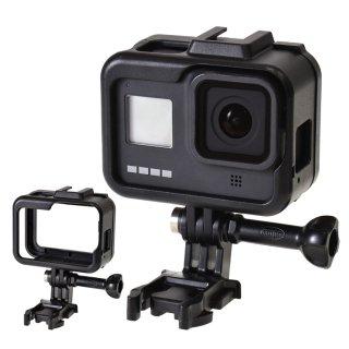 GoPro(ゴープロ)用 HERO8Black対応 アクセサリー プロテクトフレーム 保護 フレーム アクセサリーシュー付き GLD4096MJ20