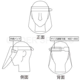 日本製フェイスシールド フェイスガード 250枚セット (1枚あたり248円) 飛沫防止 新型コロナ対策 ウィルス対策 CHU4225