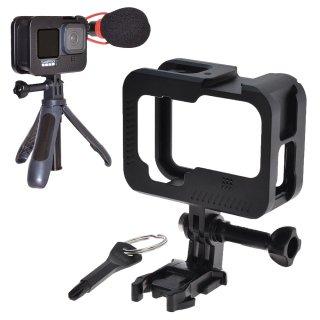 GoPro(ゴープロ)用 HERO9Black対応 アクセサリー メタルネイキッドフレーム 保護 フレーム アクセサリーシュー付き 保護ケージ GLD4959MJ107