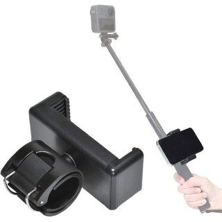 GoPro(ゴープロ)用アクセサリー 自撮り棒用 スマホホルダー スマートフォン スマホ アプリ アクションカメラ 連携 固定用マウント 三脚  GLD5154MJ123