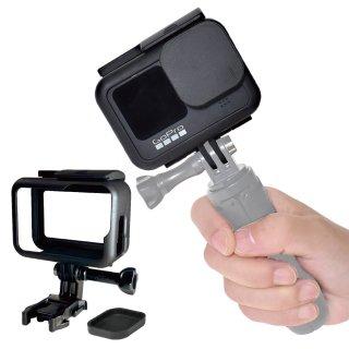 GoPro(ゴープロ)用アクセサリー HERO9Black 用 ネイキッドフレーム 保護フレーム レンズカバー付き 充電可能 保護ケージ ケース GLD5147MJ122